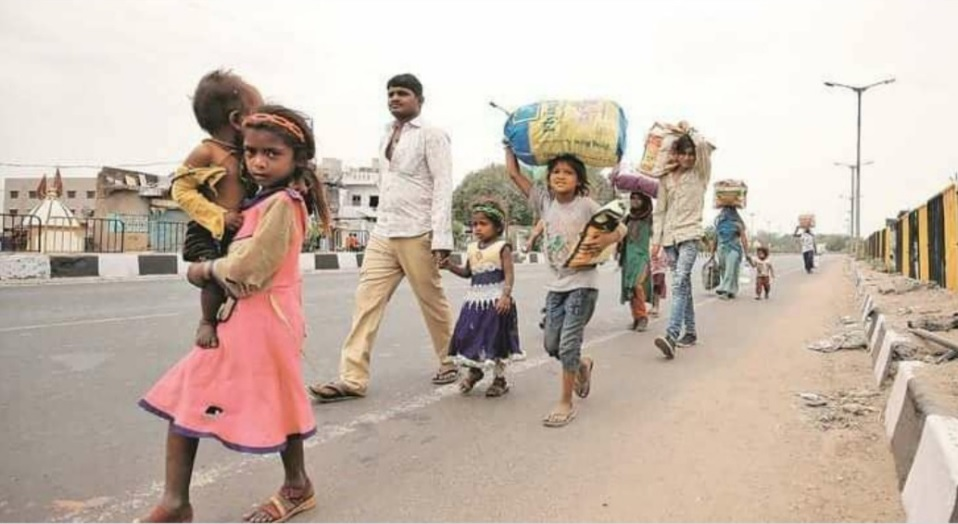 Migrant workers in cities forced to WALK HOME to villages with NO PAY OR FOOD after nationwide shutdown, so we…